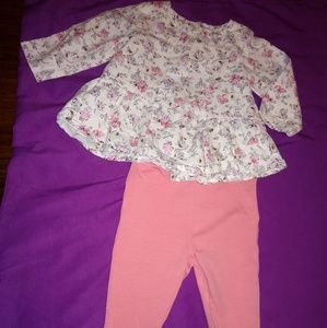 Floral absorba Paris 2 PC baby girl outfit sz 0-3m